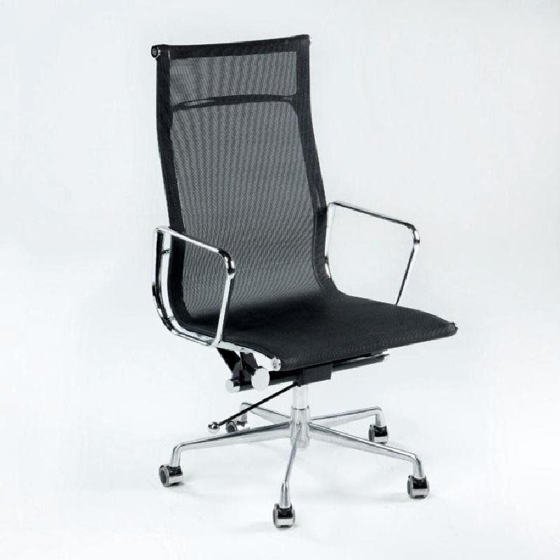 Chaise de Bureau Réglable 64x62x107 113 Métal Maille Noir - image 53425