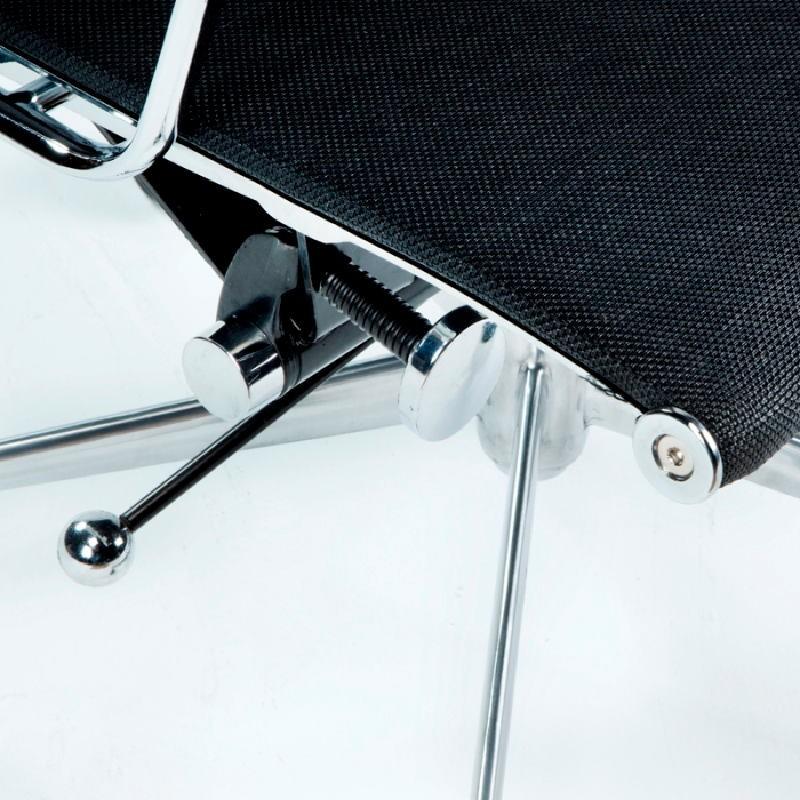 Chaise de Bureau Réglable 64x62x107 113 Métal Maille Noir - image 53426