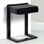 Nachttisch 50X35X66 Holz Schwarz