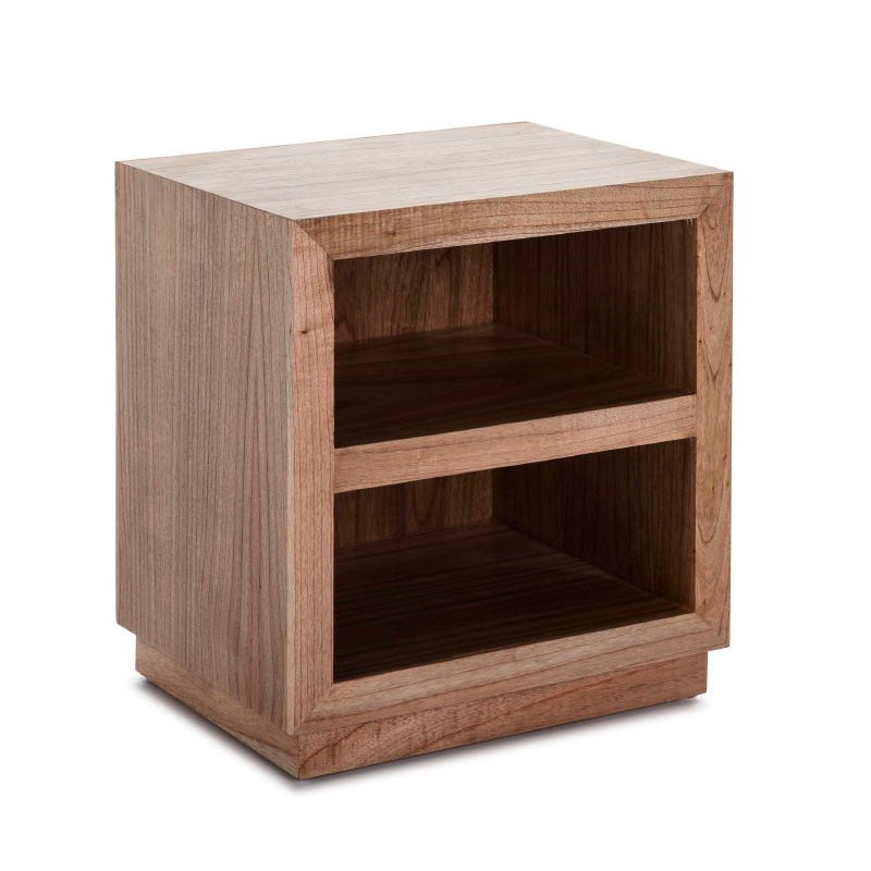 Bedside Table 50X40X55 Wood Natural Veiled Model 2