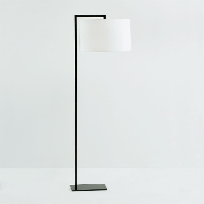 Lampada A Stelo Senza Paralume 20X35X170 Metallo Nero