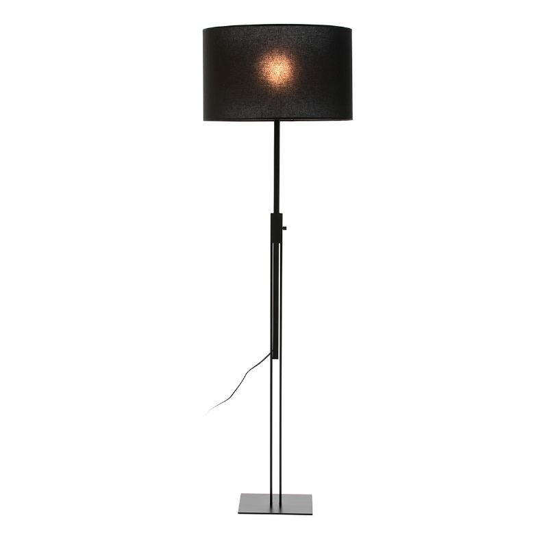 Lampada A Stelo Senza Paralume 25X25X100 200 Metallo Nero - image 53457