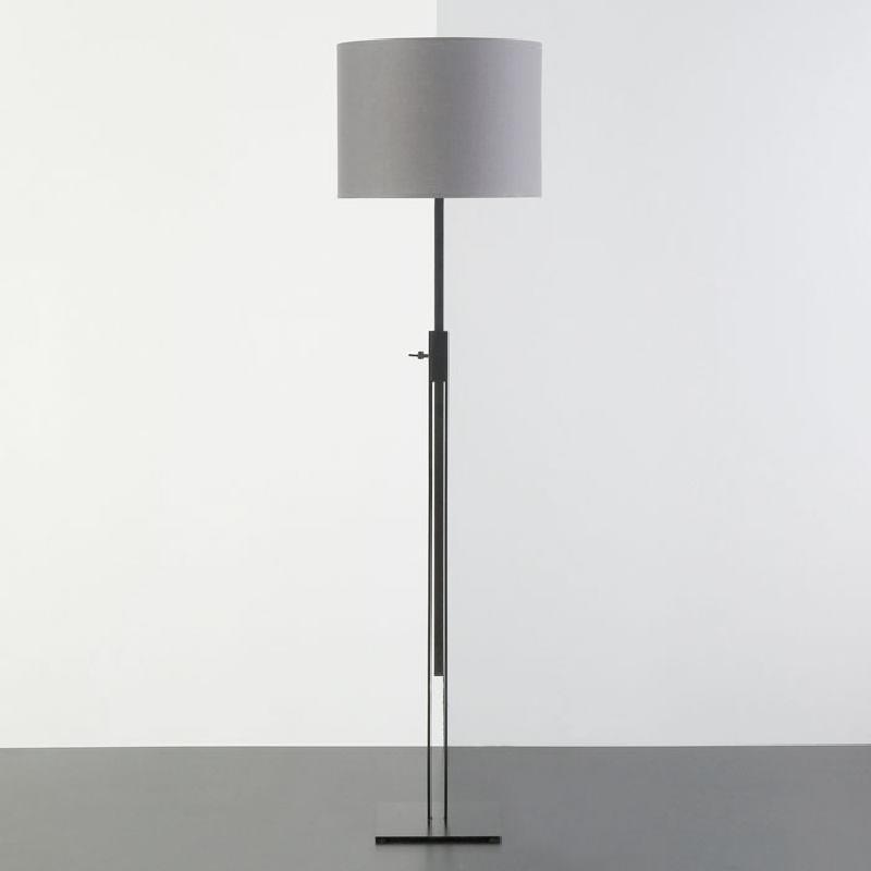 Lampada A Stelo Senza Paralume 25X25X100 200 Metallo Nero - image 53458