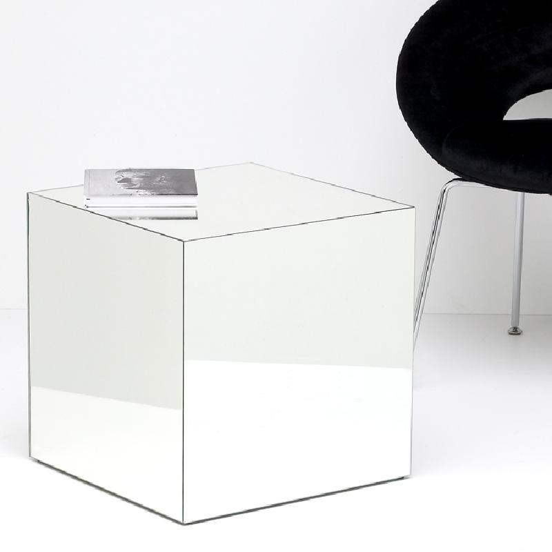 Table d'appoint, bout de canapé 45x45x45 Miroir - image 53467