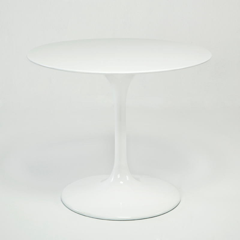 Table à Manger 90x90x75 Fibre de verre Blanc - image 53477