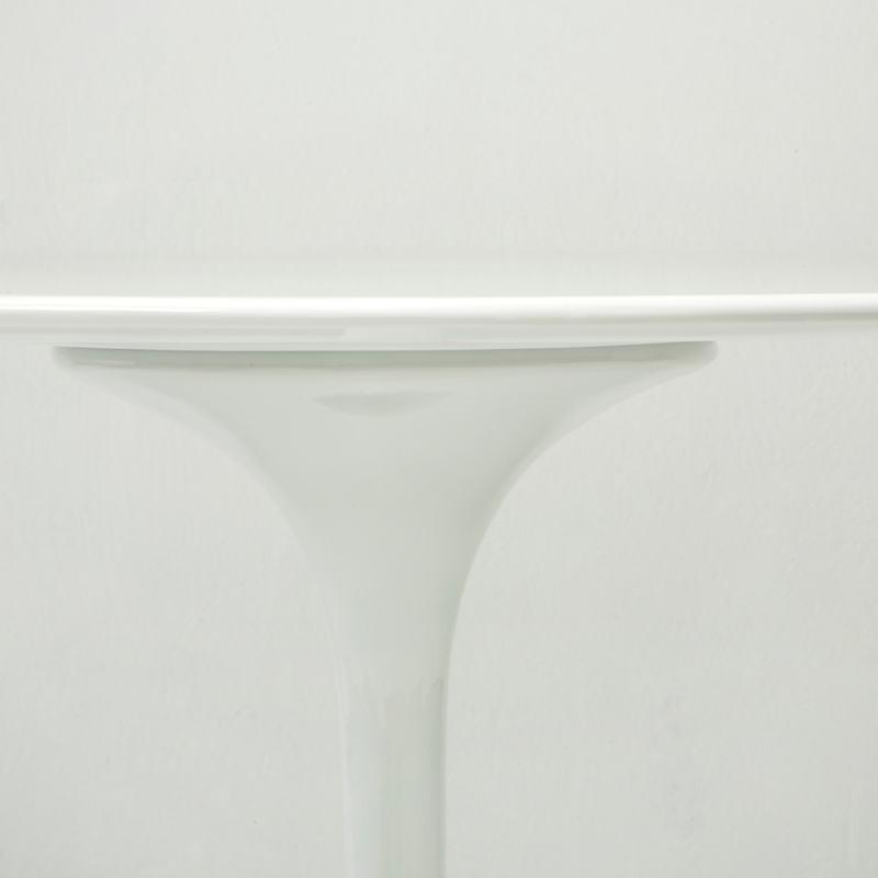Table à Manger 90x90x75 Fibre de verre Blanc - image 53480