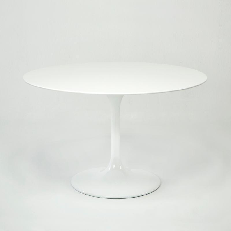 Tavole Da Pranzo 120X120X75 Fibra Di Vetro Bianco