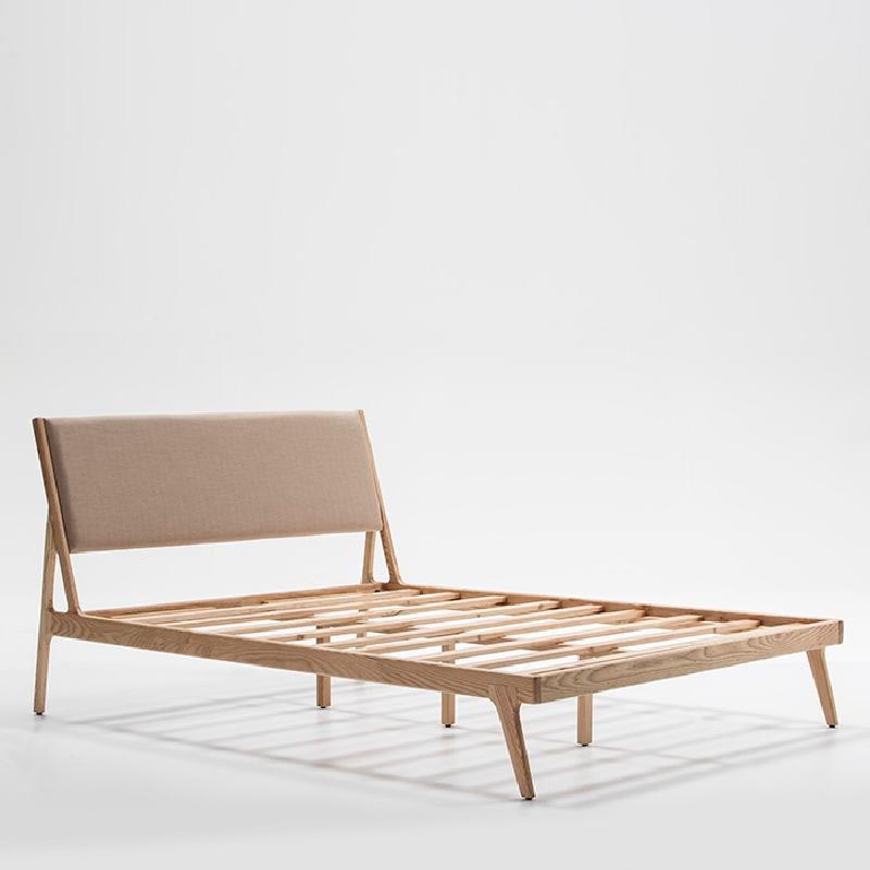 Bed 157X205X97 Ash Wood Linen Beige - image 53500