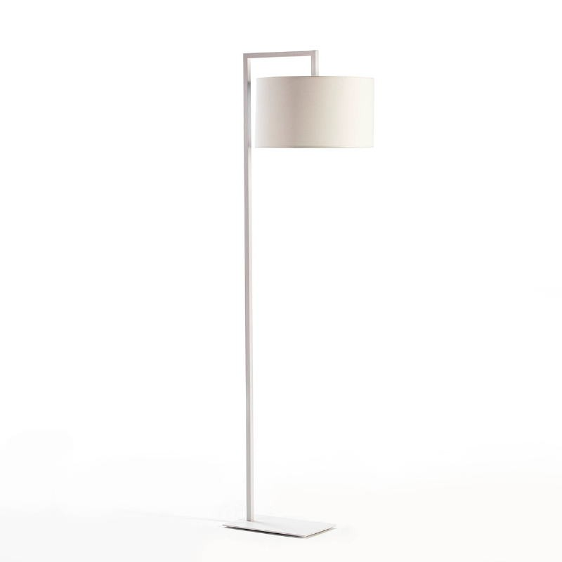 Lampada A Stelo Senza Paralume 20X35X170 Metallo Bianco - image 53529