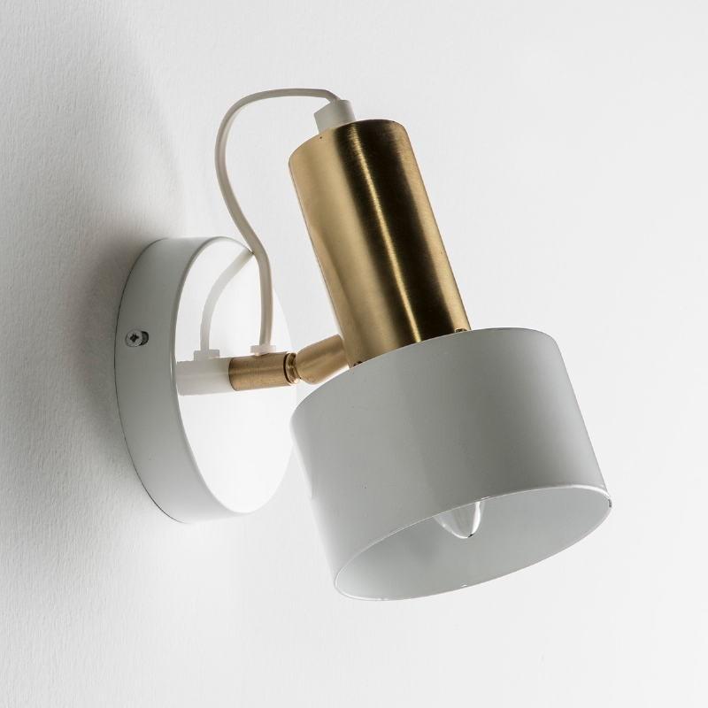 Wall Lamp 12X16X19 Metal White Golden - image 53533