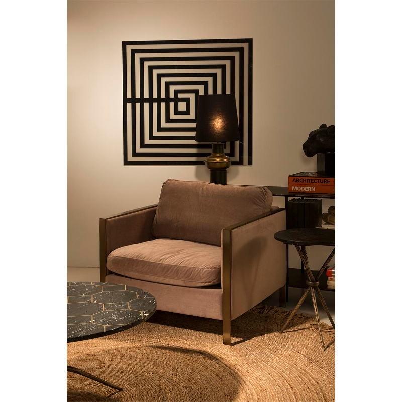 Lampe de Table sans abat-jour 20x41 Métal Noir Doré - image 53538