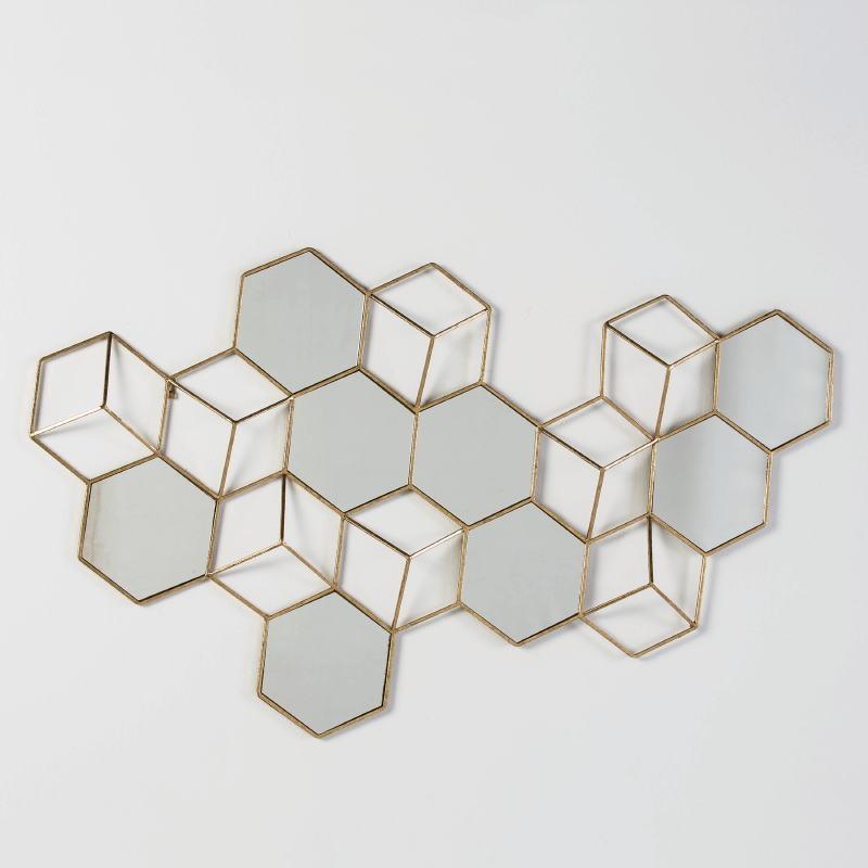 Skulptur 130X5X73 Spiegel/Metall Golden - image 53565