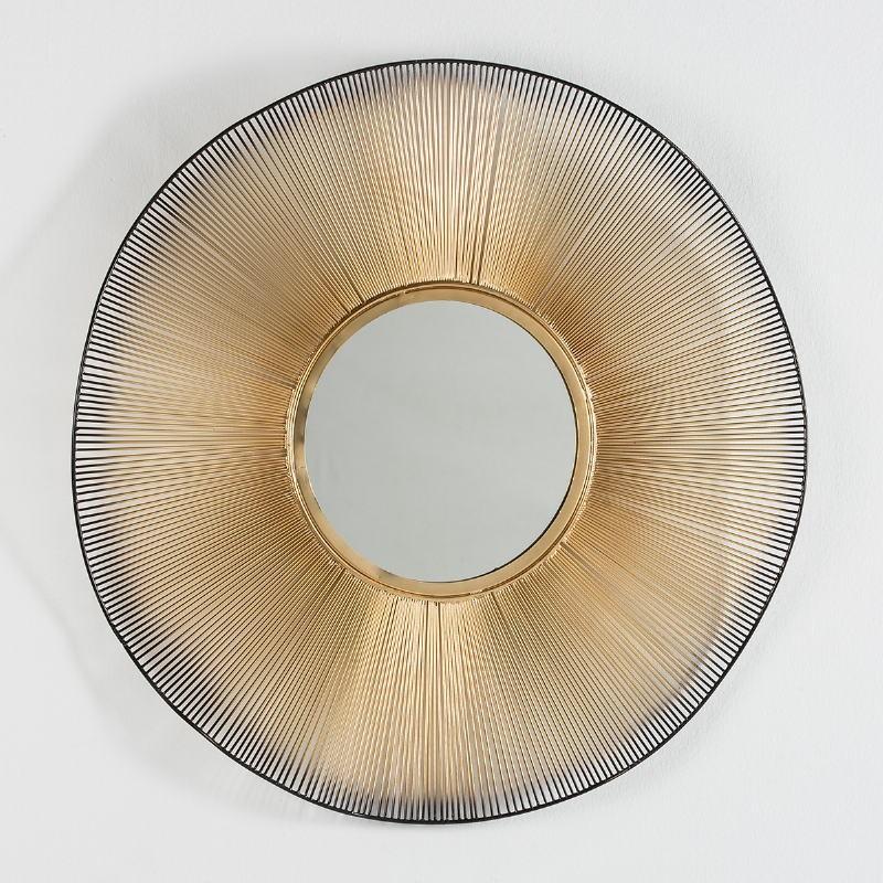 Spiegel 75X4X75 Glas/Metall Golden/Schwarz - image 53574
