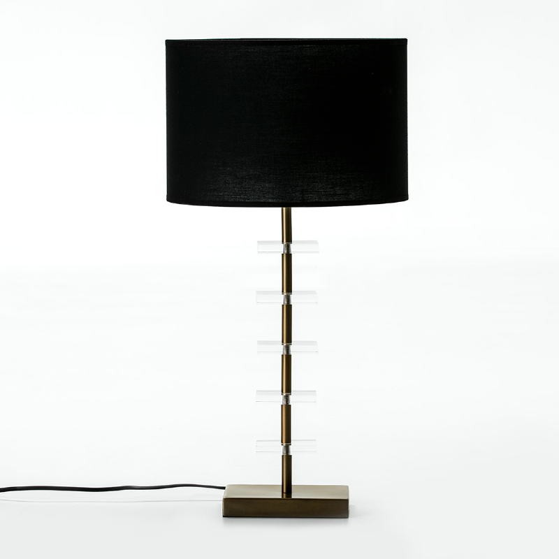 Table Lamp Without Lampshade 15X11X43 Metal Golden Acrylic Transparent - image 53589