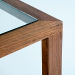 Coffee Table 110X70X45 Glass Wood Natural Veiled