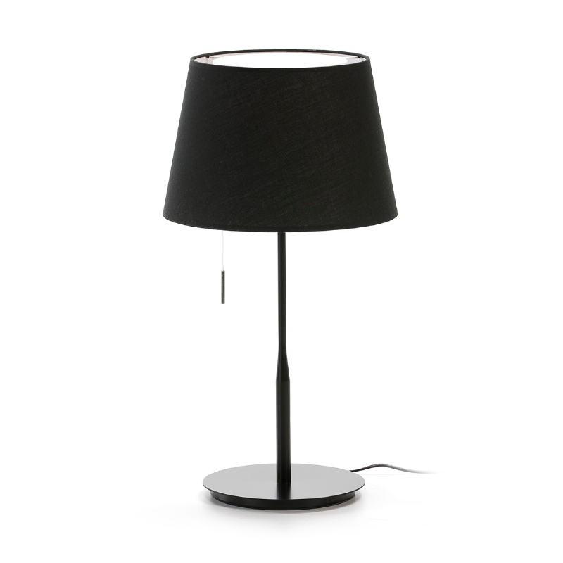 Lámpara De Sobremesa Con Pantalla 25X36X50 Metal Negro