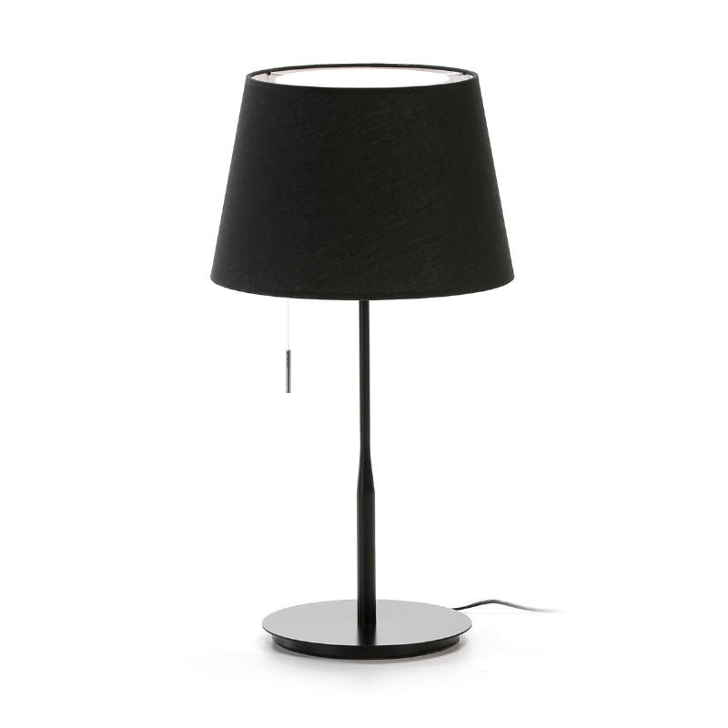 Table Lamp With Lamp Shade 25X36X50 Metal Black - image 53594