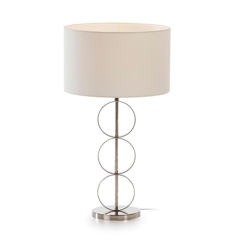 Lampe de Table sans Abat-jour 18x52 Métal Nickel - image 53600
