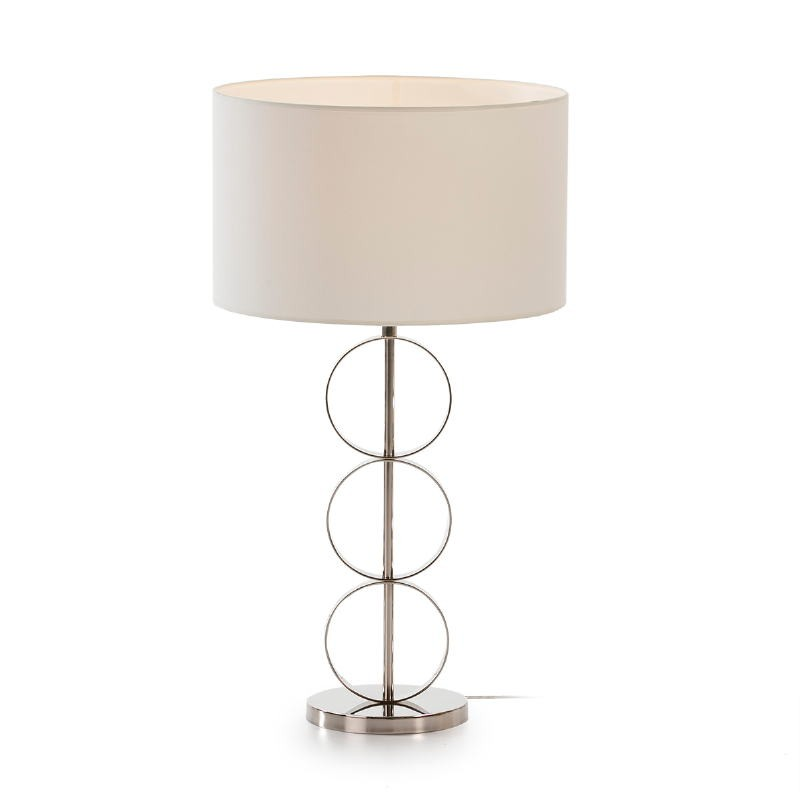 Table Lamp Without Lamp Shade 18X52 Metal Nickel - image 53600