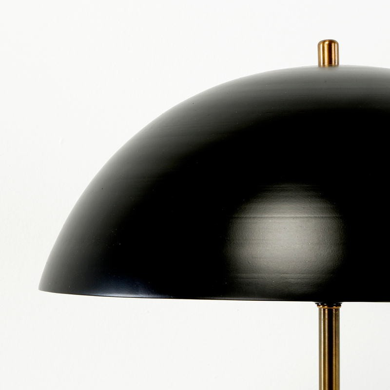Table Lamp With Lamp Shade 43X58 Metal Black Golden - image 53608