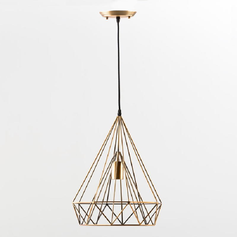 Hanging Lamp With Lampshade 30X42 Metal Bronze