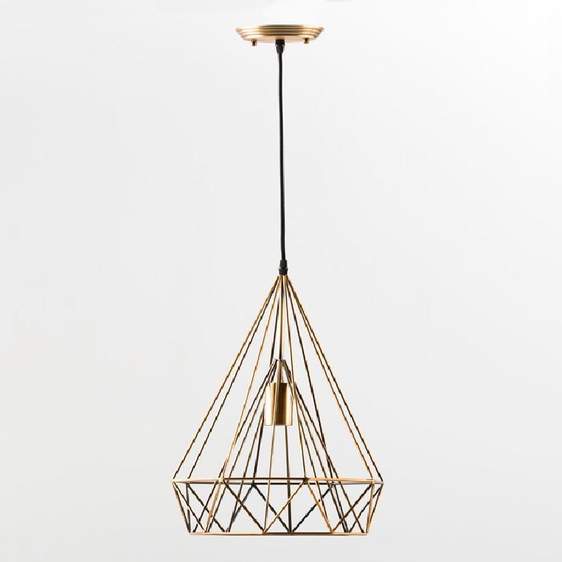 Lampe suspendue avec abat-jour 30x42 Métal Bronze - image 53615