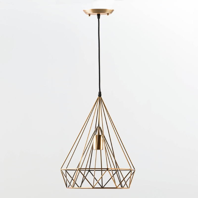 Lampe suspendue avec abat-jour 30x42 Métal Bronze - image 53616