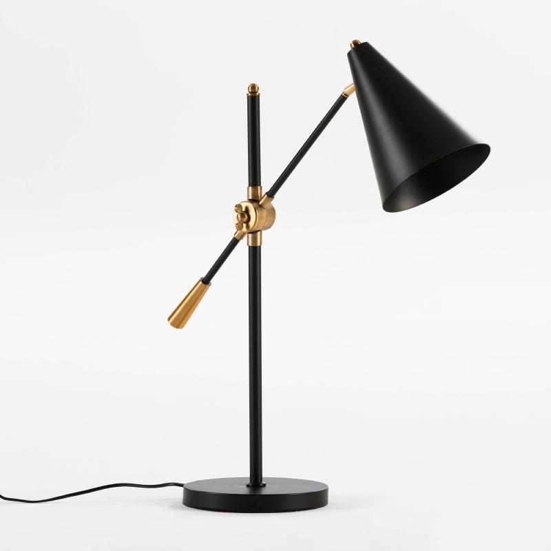 Lampada Da Tavolo Con Paralume 45X70 Metallo Nero - image 53623