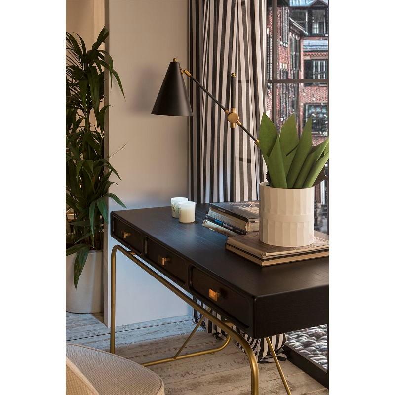 Lámpara De Sobremesa Con Pantalla 45X70 Metal Negro - image 53624