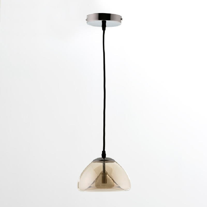 Hanging Lamp With Lampshade 20X14 Glass Amber - image 53626