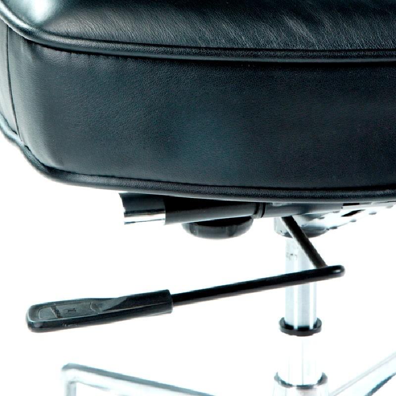 Chaise de Bureau réglable 64 x 60 x 93 99 cm Cuir Métal Noir - image 53656