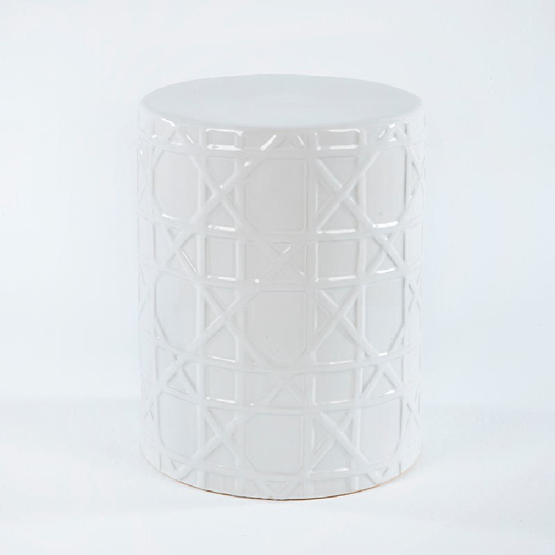 Tabouret bas 36x36x46 Céramique Blanc
