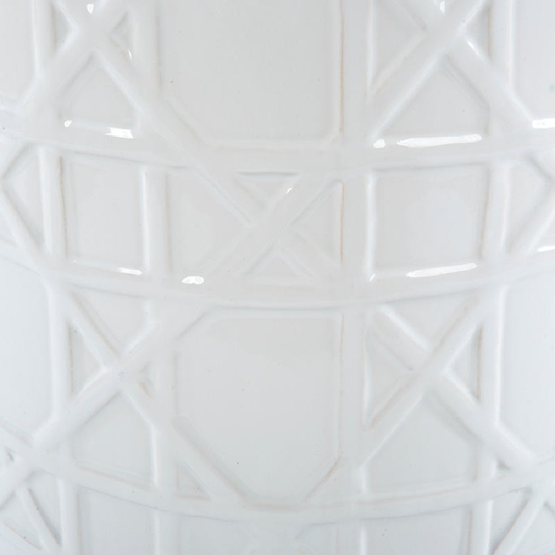 Sgabello 36X36X46 Ceramica Bianco - image 53663