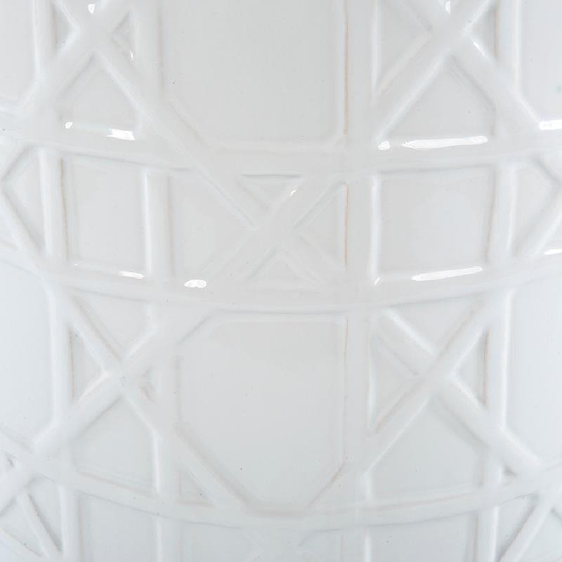 Tabouret bas 36x36x46 Céramique Blanc - image 53663