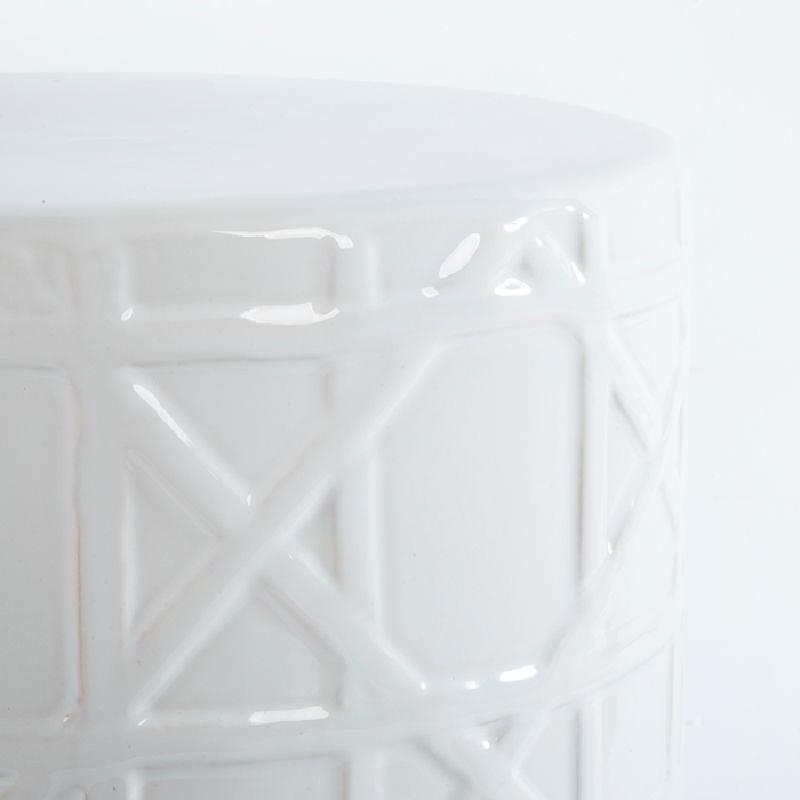 Tabouret bas 36x36x46 Céramique Blanc - image 53664