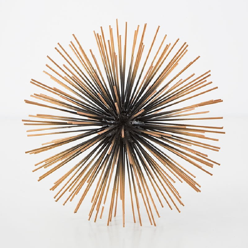 Centre de Table 28 cm Métal Noir Or