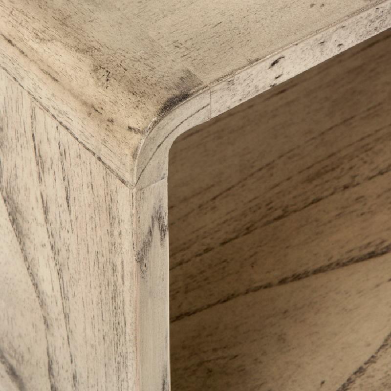 Table de chevet 50x35x51 Bois Gris blanchi - image 53706