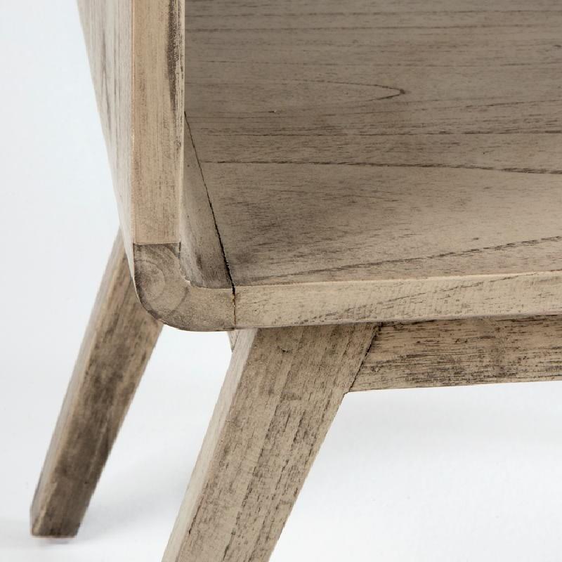 Nachttisch 50X35X51 Gebleichtes Graues Holz - image 53708