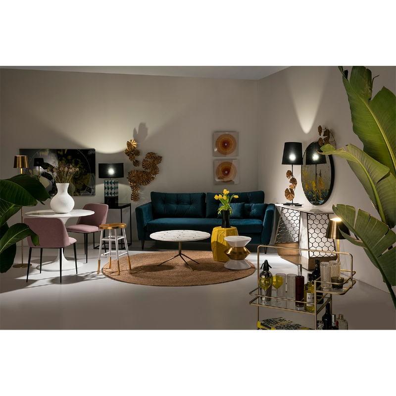 Table d'appoint, bout de canapé 48x48x70 Métal MDF Noir - image 53713