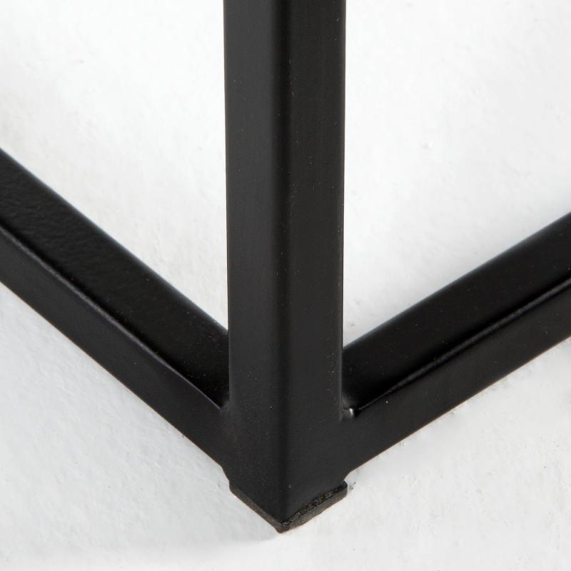 Table d'appoint, bout de canapé 48x48x70 Métal MDF Noir - image 53714