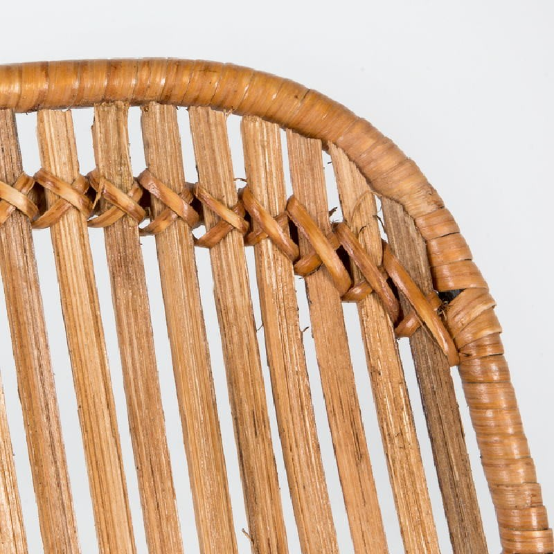 Chaise 57x45x88 Métal Osier Naturel - image 53724