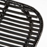 Chair 57X45X88 Metal Wicker Black