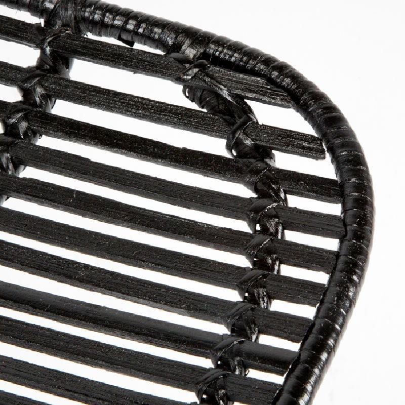 Chair 57X45X88 Metal Wicker Black - image 53728