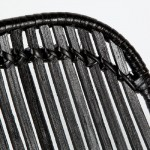 Sedia 57X45X88 Metallo Vimini Nero