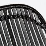 Silla 57X45X88 Metal Mimbre Negro