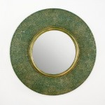 Espejo 86X5X86 Metal Oro Verde