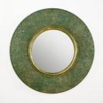 Mirror 86X5X86 Metal Gold Green