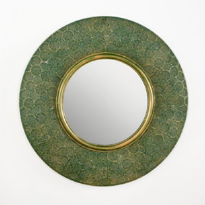 Espejo 86X5X86 Metal Oro Verde - image 53741