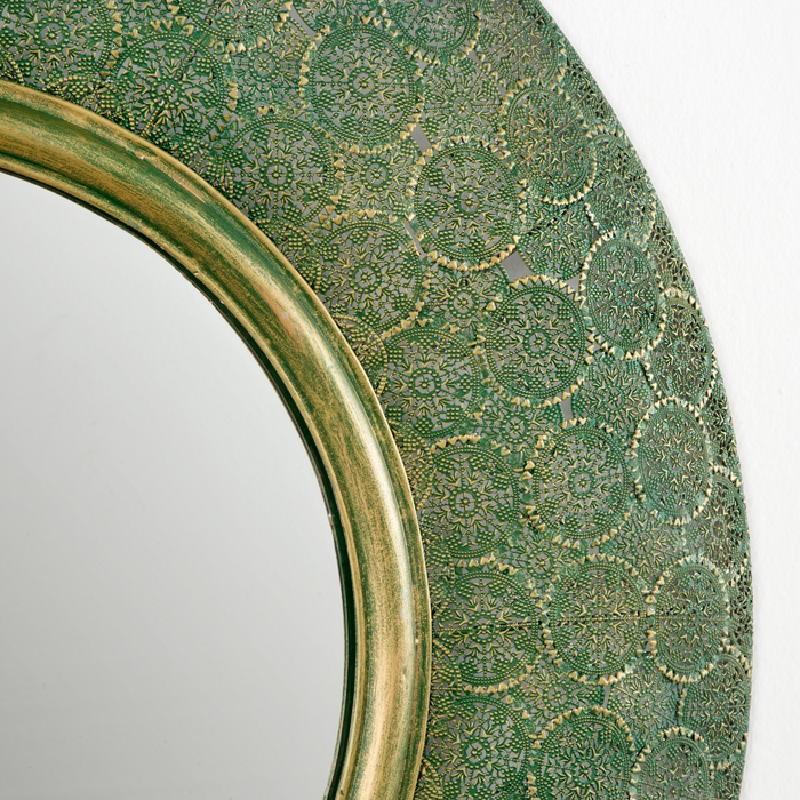 Miroir 86x5x86 Métal Or Vert - image 53744