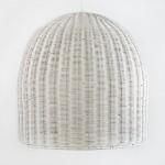 Lampada A Sospensione 60X60 Vimini Bianco